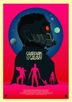 """""""Os Guardiões da Galáxia"""" ganha comercial e belos pôsteres feitos por fãs!"""