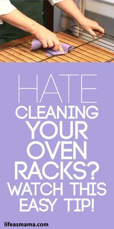 Hate Cleaning Your Oven Racks? Watch This Easy Tip! There's a little trick to cleaning your oven racks that will make your life a lot easier. If you want to get it done quickly, we have the solution. Deep Cleaning Tips, Household Cleaning Tips, Cleaning Recipes, House Cleaning Tips, Natural Cleaning Products, Cleaning Solutions, Spring Cleaning, Cleaning Hacks, Cleaning Checklist