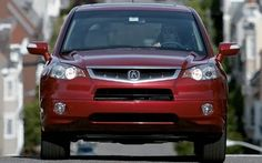 Red 2007 Acura RDX Driving