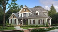 Home Plan HOMEPW74159 - 2828 Square Foot, 4 Bedroom 3 Bathroom + Cottage Home with 2 Garage Bays | Homeplans.com