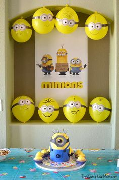 Minion Birthday Party - is-sit tiegħi Minion Party Favors, Minion Party Theme, Despicable Me Party, Third Birthday, 4th Birthday Parties, Birthday Party Decorations, Minions Decorations, Birthday Ideas, Minion Balloons