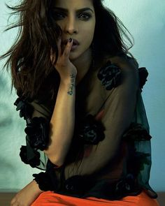@priyankachopra on @flauntmagazine  Top - @jillstuart  Dress…