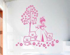 Ebre Vinil Vinilo Decorativo Infantil Mi princesa y sus ositos 02652