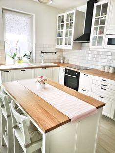 ideas for ikea kitchen island bodbyn Apartment Kitchen, Home Decor Kitchen, Kitchen Interior, New Kitchen, Home Kitchens, Kitchen Design, Kitchen Ideas, Ikea Bodbyn Kitchen, White Ikea Kitchen