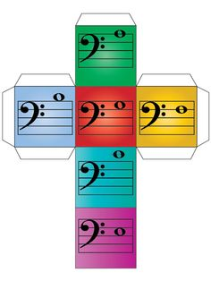 Treble and bass clef note dice DIY