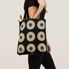 9 Crown Chakras Sepia on Black Tote Bag custom gift ideas diy