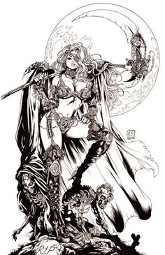 ☆ Steampunk Lady Death -::- Artist Mike Krome ☆