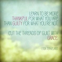 Cut the threads of guilt with God's Grace!