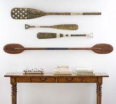 Old boat oars