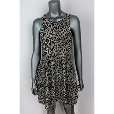 "Ebony Eve Australia Leopard Print Silk Play Dress brand: Ebony Eve Australian Designer style: Leopard Play Dress womens tag size: 10 100% silk color: Leopard Print - black ivory tan/brown full retail $179  -sleeveless -ruched pleated waist -back hook and zipper closure -lined at the top -new with tags still attached  approximate measurements flat across unstretched: chest - underarm to underarm: 16.5"" length - top of back to bottom hem: 32"" waist - side to side: 14.5""  ml2-130 Ebony Eve…"