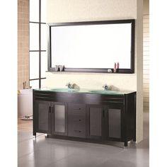 Design Element Double-sink 71.5- inch Waterfall Faucet Bathroom Vanity Set   Overstock.com Shopping - The Best Deals on Bathroom Vanities