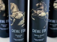 Cheval d'OrWines - The Dieline - The #1 Package Design Website -