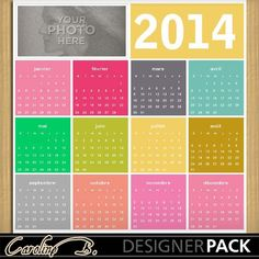 2014 Colorful 12x12 Calendar 2-000
