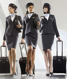 The glamorous uniforms that flight attendants wear are a big part of the attraction for men
