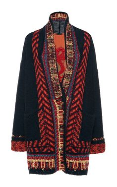brocade panel knitted coat by etro for preorder on moda operandi