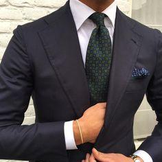 "Viola Milano - @vincent_frederiks wearing our handrolled ""Artisan Pattern Madder - Cobal"" silk tie & handrolled silk pocket square…"