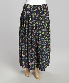 Take a look at this Navy Sparrows Maxi Skirt - Plus by Miss Maxi on #zulily today!