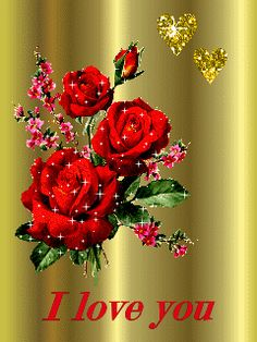 I love you Heart Pictures, Love Pictures, Beautiful Gif, Beautiful Roses, I Love You Images, Motion Images, Flower Lights, Beautiful Flower Arrangements, Flowers Nature