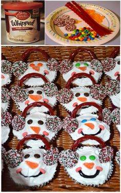Snowman Cupcakes my sister made :)