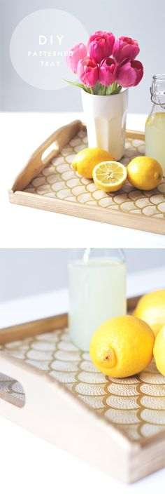 diy patterned tray 1
