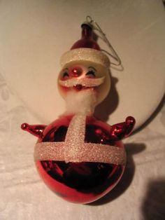 Vintage Christmas Ornament ~ Shiny Brite Santa Ornament