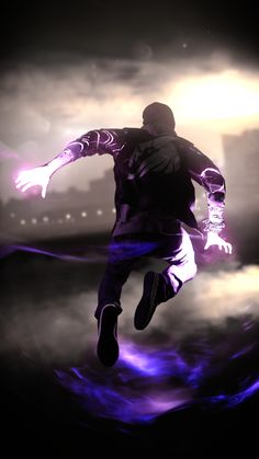 Energy manipulation - Wallpaper World Character Concept, Character Art, Concept Art, Delsin Rowe, Infamous Second Son, Infamous 2, Parkour, Video Game Art, Fantasy Characters