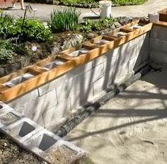 concrete block pond building