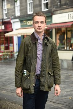 We caught up with Ben back in August at the Edinburgh Fringe Festival, where he was sporting his classic Bedale in olive. The jacket, inspired by British champion jockey Willie Carson is perfect for adjusting to the autumnal breeze.