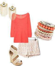 Coral and lace
