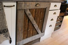 Reclaimed wood, dishwasher,cover