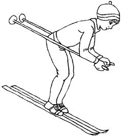 Coloriage Sports ! ski