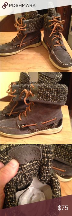 Brand new Sperry Topsider women's boots Brand-new gray Sperry Topsider women's boots size 6 1/2 smoke free pet free home Sperry Top-Sider Shoes Winter & Rain Boots