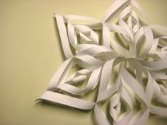 making large paper snowflakes--  we've made these before, several times. they look beautiful and complicated, but they are not difficult to make at all!