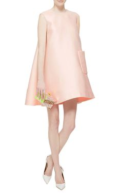 Presley Duchess Satin Sleeveless Tunic by Emilia Wickstead - Moda Operandi