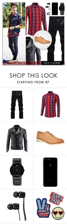 """Mad for Plaid: DressLily"" by dora04 on Polyvore featuring Vans, men's fashion, menswear, plaid and WardrobeStaples"
