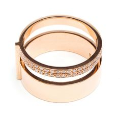 Repossi Berbère 18K Gold Double Ring ($3,715) ❤ liked on Polyvore featuring jewelry, rings, white jewelry, 18k ring, gold jewelry, 18 karat gold ring and 18k jewelry