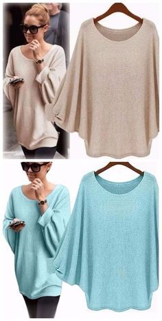 Autumn-Winter Women Sweater. Retro batwing sleeve. Cosas Para Comprar 7e2f2910599