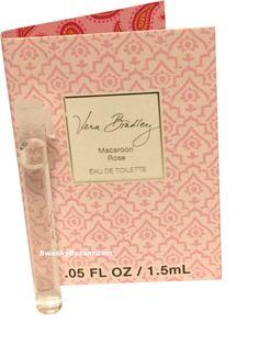 Vera Bradley Macaroon Rose Eau De Toilette Fragrance Sample .05 Fl Oz / 1.5 mL