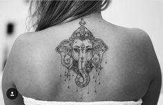 nice Top 100 tattoo art part 1 Ganesha Tattoo Back, Ganesha Tattoos, Hindu Tattoos, Buddha Tattoos, Body Art Tattoos, Sleeve Tattoos, Ganesha Tattoo Mandala, Hamsa Tattoo Design, Elephant Tattoo Design