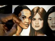 how to paint skin tones in acrylic portraits part 3 - YouTube