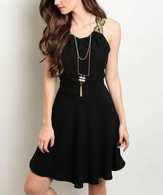 Look what I found on #zulily! Black Skater Dress #zulilyfinds