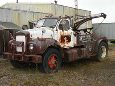 This old Mack wrecker has been sitting in this spot for 20 years.