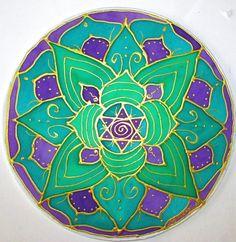Heart Chakra Mandalamandala art chakra art by HeavenOnEarthSilks, $34.00
