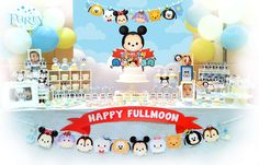 Disney Tsum Tsum baby shower party! See more party planning ideas at CatchMyParty.com!