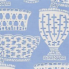 """This is a beautifulblue and white slubby drapery fabric. Ideal for draperies, bedding, decorative pillows or great for light weight upholstery. Fabric suitable for many home decorating applications. Dry cleaning recommended.Width: 55""""V.Repeat: 27""""100% CottonV142PFEF"""