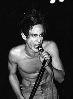 Iggy Pop on stage during the Idiot tour at The Palladium, New York City, 1977.