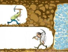 Just keep going you never know how close to success you are