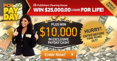 Enter our free online sweepstakes and contests for your chance to take home a fortune! Will you become our next big winner? Instant Win Sweepstakes, Online Sweepstakes, Pch Dream Home, Win For Life, Winner Announcement, Publisher Clearing House, Winning Numbers, Cash Prize, Enter To Win