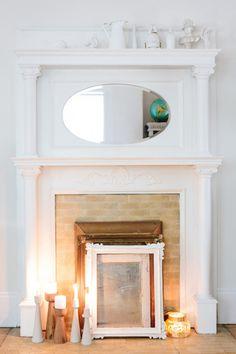 Fireplace via Design*Sponge