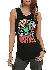 HOTTOPIC.COM - Marvel Avengers Group Girls Muscle Top
